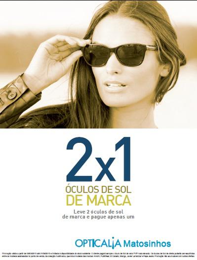 e20bc817a6 Campanha Leva 2 e Paga 1 em Óculos de Sol.